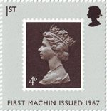The Machin Definitives 1st Stamp (2007) First Machin Issued 1967