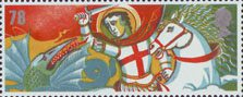 Celebrating England 78p Stamp (2007) St George