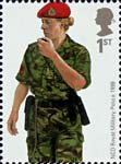 British Army Uniforms 1st Stamp (2007) Military Police NCO from Kosovo