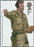 British Army Uniforms 1st Stamp (2007) Tank Commander from Second World War