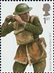 British Army Uniforms 1st Stamp (2007) Artillery Observer from World War One
