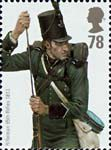 British Army Uniforms 78p Stamp (2007) Rifleman from Peninsula War
