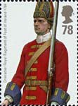 British Army Uniforms 78p Stamp (2007) Grenadier from Battle of Blenheim
