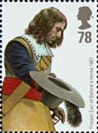British Army Uniforms 78p Stamp (2007) Trooper from Earl of Oxfords's Horse, King Charles II