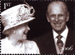 The Diamond Wedding Anniversary 1st Stamp (2007) Queen and Prince Philip leave St Pauls Cathedral, 2006