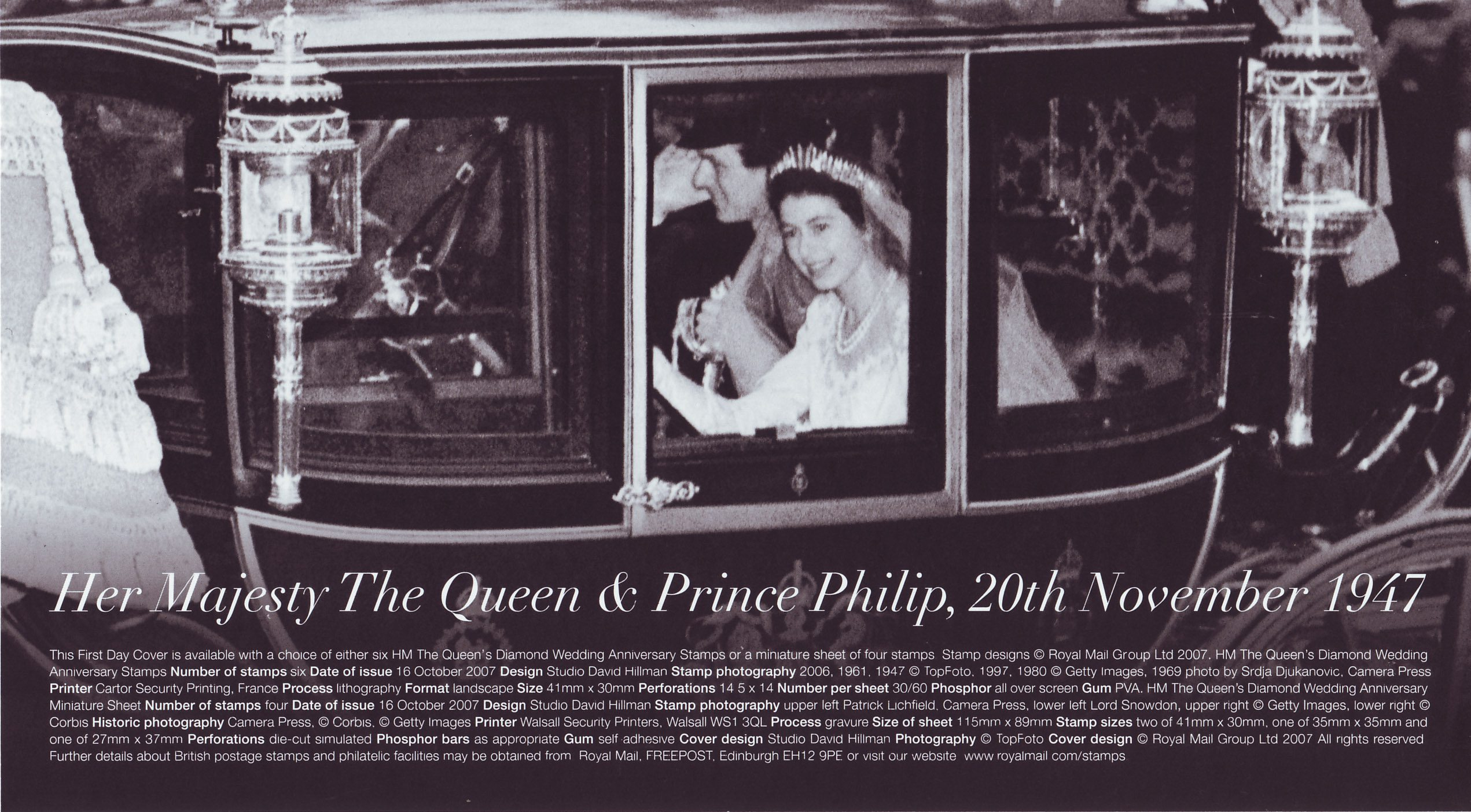 the diamond wedding anniversary 2007  collect gb stamps