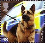 Working Dogs 48p Stamp (2008) Police Dog