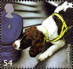 Working Dogs 54p Stamp (2008) Customs Dog