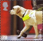 Working Dogs 78p Stamp (2008) Guide Dog