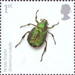 Endangered Species - Insects 1st Stamp (2008) Noble Chafer Beetle