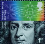 The Royal Society 1st Stamp (2010) Sir Isaac Newton, Optics