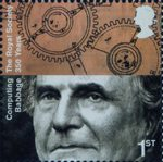 The Royal Society 1st Stamp (2010) Charles Babbage, Computing