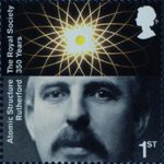 The Royal Society 1st Stamp (2010) Ernest Rutherford, Atomic Structure