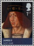 House of Stewart 1st Stamp (2010) James II (1437-1460)