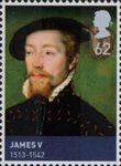 House of Stewart 62p Stamp (2010) James V (1513-1542)