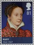 House of Stewart 81p Stamp (2010) Mary (1542-1567)