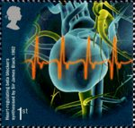 Medical Breakthroughs 1st Stamp (2010) Heart-regulating beta-blockers synthesized by Sir James Black 1962