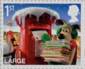 Christmas with Wallace and Gromit 1st Large Stamp (2010) Gromit posting Christmas cards