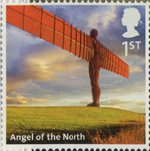 A to Z of Britain, Series 1 1st Stamp (2011) Angel of the North