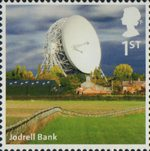 A to Z of Britain, Series 1 1st Stamp (2011) Jodrell Bank