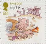 Roald Dahl 68p Stamp (2012) The BFG and Sophie wake the Giants