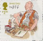 Roald Dahl £1 Stamp (2012) The BFG and Sophie at the Writing Desk