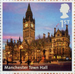 UK A-Z (Part 2) 1st Stamp (2012) Manchester Town Hall