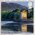 UK A-Z (Part 2) 1st Stamp (2012) Narrow Water Castle