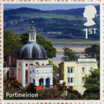 UK A-Z (Part 2) 1st Stamp (2012) Portmeirion