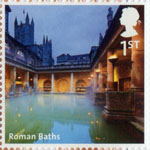UK A-Z (Part 2) 1st Stamp (2012) Roman Baths