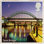 UK A-Z (Part 2) 1st Stamp (2012) Tyne Bridge