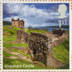 UK A-Z (Part 2) 1st Stamp (2012) Urquhart Castle