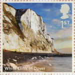 UK A-Z (Part 2) 1st Stamp (2012) White Cliffs of Dover
