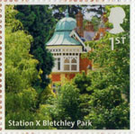 UK A-Z (Part 2) 1st Stamp (2012) Station X Bletchley Park