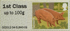 Post & Go: Pigs - British Farm Animals 2 1st Stamp (2012) Tamworth