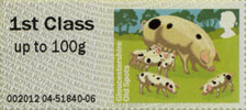 Post & Go: Pigs - British Farm Animals 2 1st Stamp (2012) Gloucestershire Old Spots