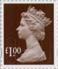 Definitives - Revised Colours �1 Stamp (2013) �1.00 Wood