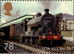 Classic Locomotives of Northern Ireland 78p Stamp (2013) Ulster Transport Authority SG3 Class No. 35