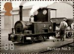 Classic Locomotives of Northern Ireland 88p Stamp (2013) Peckett No. 2