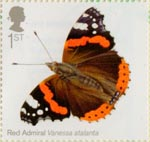 Butterflies 1st Stamp (2013) Red Admiral
