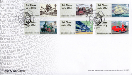 Post & Go : Royal Mail Heritage: Transport (2016)