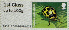 Post & Go : Ladybirds 1st Stamp (2016) Fourteen-spot Ladybird