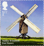 Windmills and Watermills 1st Stamp (2017) Nutley Windmill, East Sussex