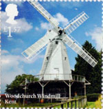 Windmills and Watermills £1.57 Stamp (2017) Woodchurch Windmill, Kent