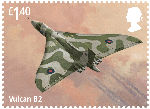 The RAF Centenary £1.40 Stamp (2018) Vulcan B2