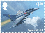 The RAF Centenary £1.40 Stamp (2018) Typhoon FGR4