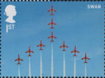 The RAF Centenary 1st Stamp (2018) RAF Red Arrows - Swan