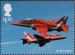 The RAF Centenary £1.40 Stamp (2018) RAF Red Arrows - Synchro
