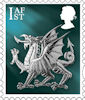 New Country Definitives 1st Stamp (2018) Wales 1st