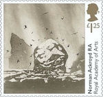 Royal Academy of Arts £1.25 Stamp (2018) Norman Ackroyd - St Kilda: The Great Sea Stacs